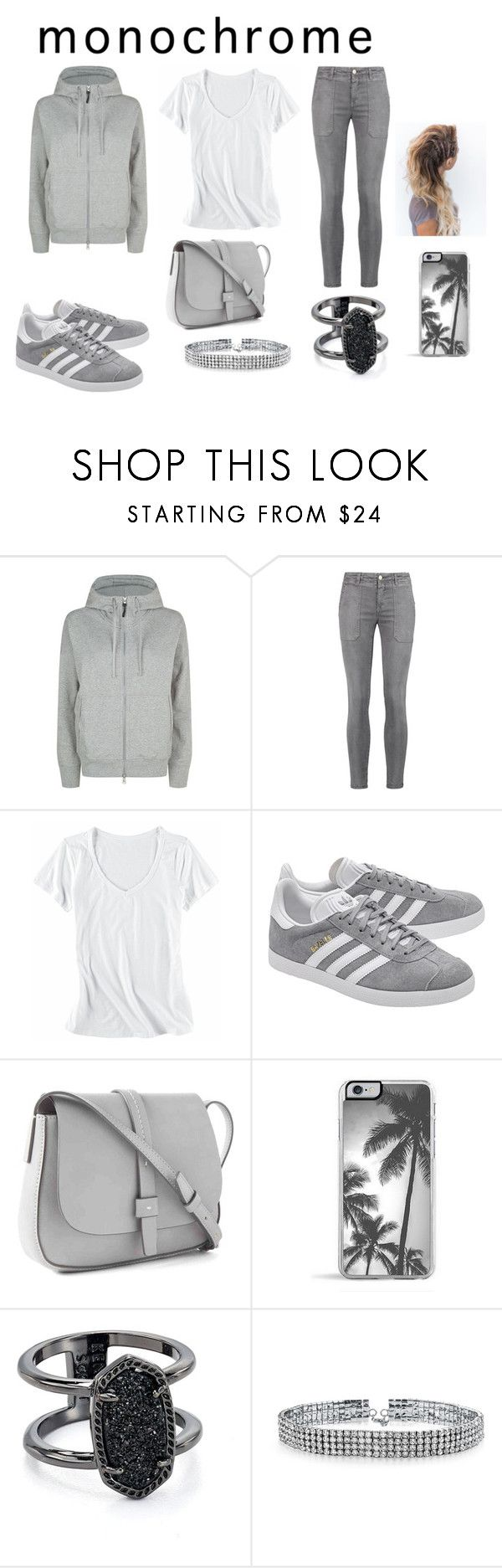 """grey perfection"" by ibored111 ❤ liked on Polyvore featuring adidas, Current/Elliott, Horny Toad, adidas Originals, Gap, Zero Gravity, Kendra Scott, Bling Jewelry and contest"