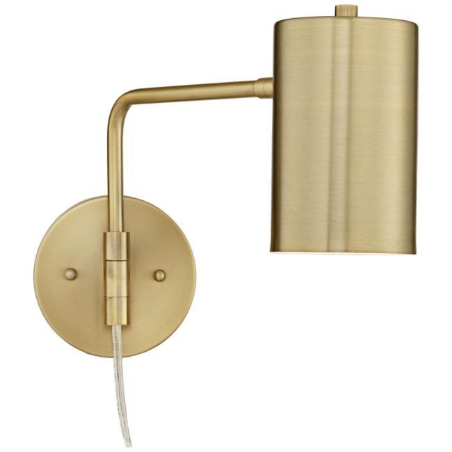 Carla Polished Brass Down Light Swing Arm Wall Lamp Swing Arm Wall Lamps Wall Lamp Downlights