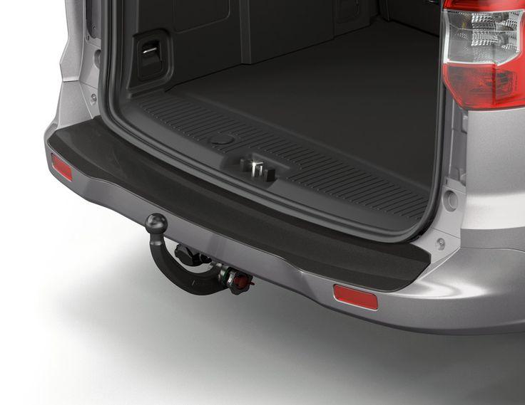 Ford Tourneo Courier - Protezione carico paraurti posteriore, piastra sagomata.