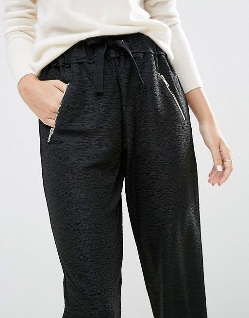 Asos Textured Joggers with Zippers