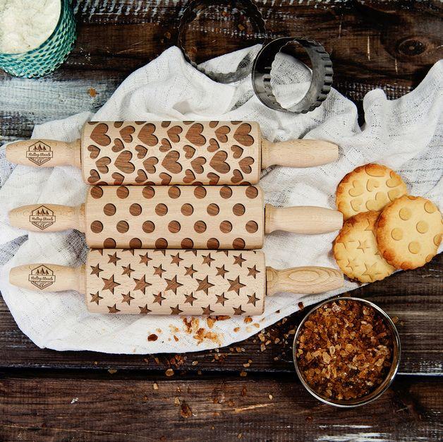 Shapes - Zestaw - 3 MINI wałki do ciasta