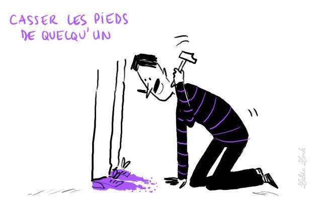 Le français et vous — Casser les pieds de quelqu'un: ennuyer,...