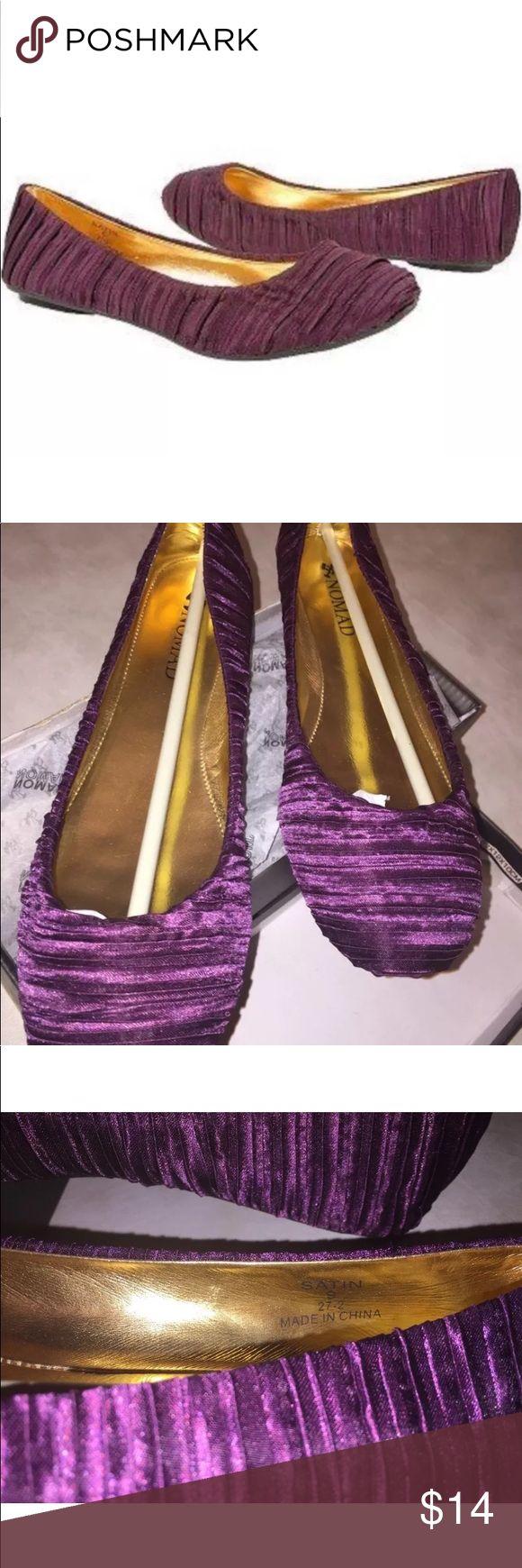 Nomad size 9 purple Satin Ballet flats NIB purple flats Nomad Footwear Shoes Flats & Loafers