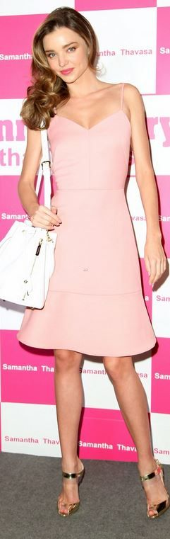 Miranda Kerr: Dress – Osman  Purse – Samantha Thavasa  Shoes – Rupert Sanderson