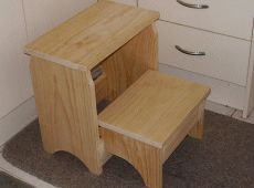 This is the stool Grandpa made for Grayson to reach the sink better...it is awesome. The  building plans are all there.