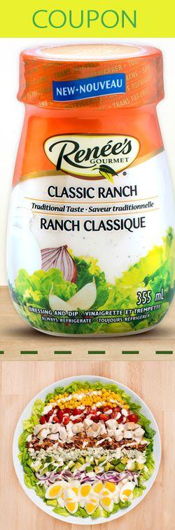 Rabais pour vinaigrette Ranch classique.  http://rienquedugratuit.ca/coupons/vinaigrette-ranch-classique/