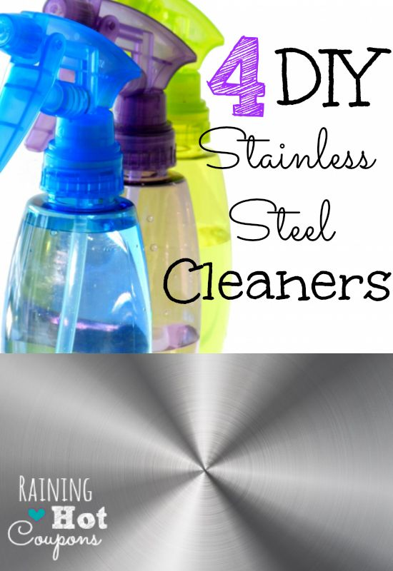 4 DIY Cleaners For Stainless Steel *Get more FRUGAL Articles, tips and tricks from Raining Hot Coupons here* 4 DIY Cleaners For Stainless Steel Stainless steel appliances look great in the kitchen, but dirt,streaks and fingerprints can collect pretty easily. Luckily, there are a few household products that can not only combat daily dirt it [...]