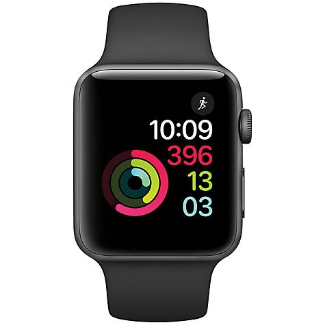 Buy Apple Watch Series 2 42mm Space Grey Aluminium Case with Sport Band, Black Online at johnlewis.com