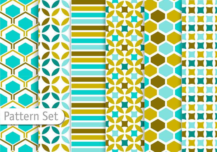 Decorative Abstract Pattern Set