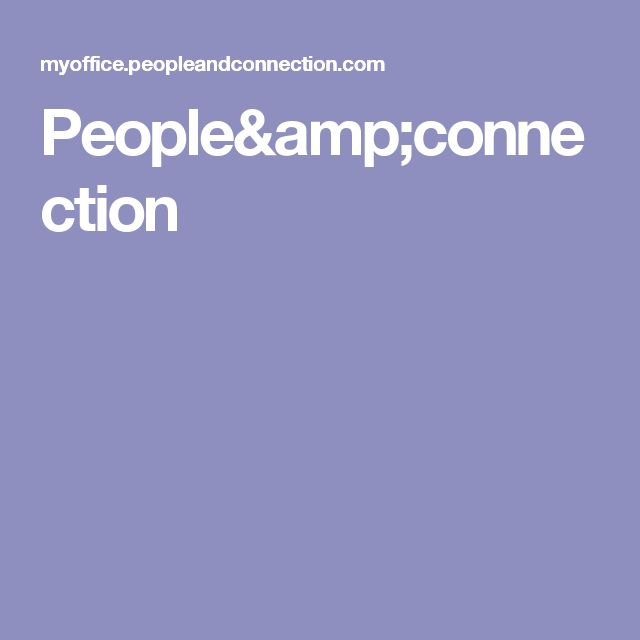 People&connection