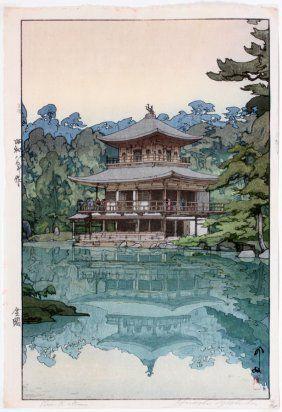 HIROSHI YOSHIDA COLOR WOODBLOCK PRINT C. 1933