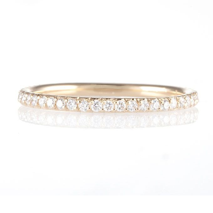 """Brides.com: . """"Ellen"""" 18k gold and diamond band, $2,800, Erica Courtney  See more Erica Courtney rings."""