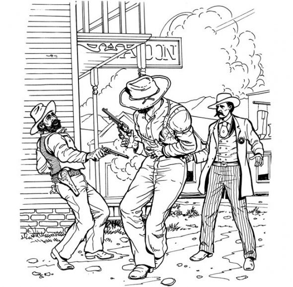 western coloring book pages - photo#17