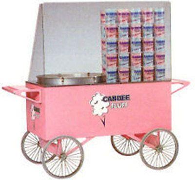Cotton Candy Fairy Floss Machine Maker 3118 Candee Fluff Cart | eBay