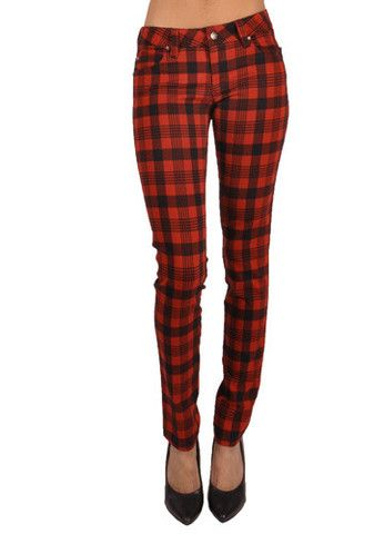 BUFFALO PLAID SKINNY JEANS | Fetish