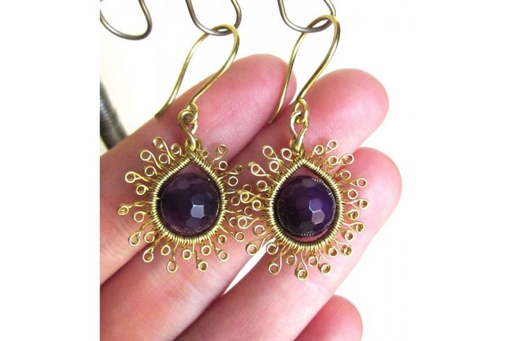 Earrings with agates / Kolczyki z agatami