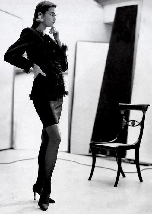 Yasmin Le Bon in YSL by Arthur Elgort for Vogue Paris 1988