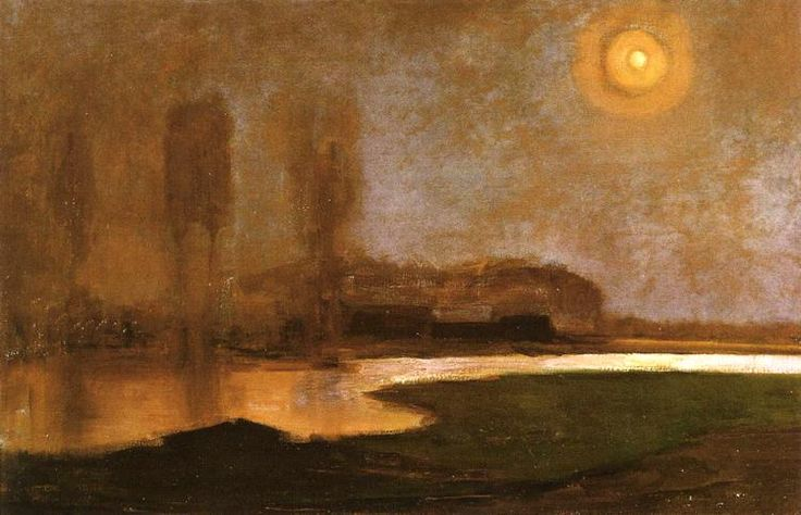 Piet Mondrian, Summer Night / Somernacht, 1906 Gemeentemuseum, The Hague, Netherlands Oil on canvas, 111 x 71 cm