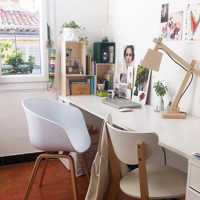Un bureau scandinave, home , décoration, deco, deco scandinave,scandinavian home, bureau , office, un23ilaria #madecoamoi @ilariafatone