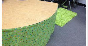 Classroom DIY: DIY Kidney Table Skirt