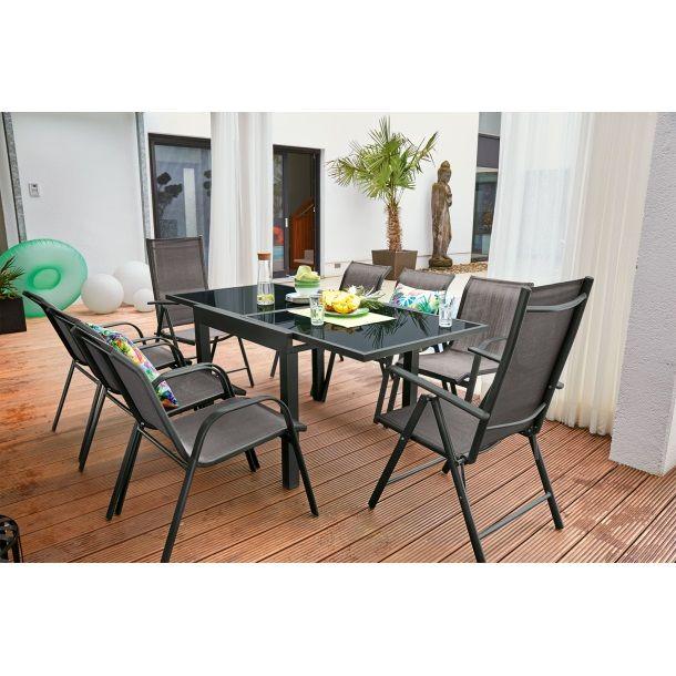 Outdoor Gartentisch Dallas 72 144 X 72 Cm Alu Anthrazit Bild 3 Gartentisch Aussenmobel Ausziehtisch