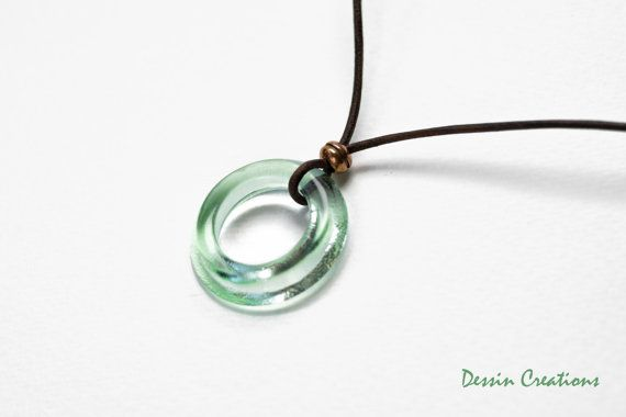 Cola Bottle Necklace Glass Pendant made from a by DessinCreations