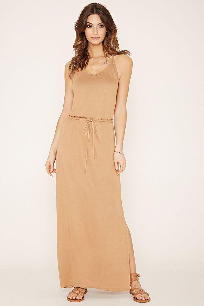 Forever 21 Contemporary Camel Cami Maxi Dress #FOREVER21CONTEMPORARY #Maxi #Casual