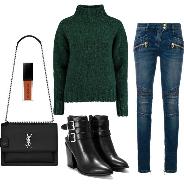 388 by veronika117 on Polyvore featuring Lowie, Balmain, Nasty Gal and Yves Saint Laurent