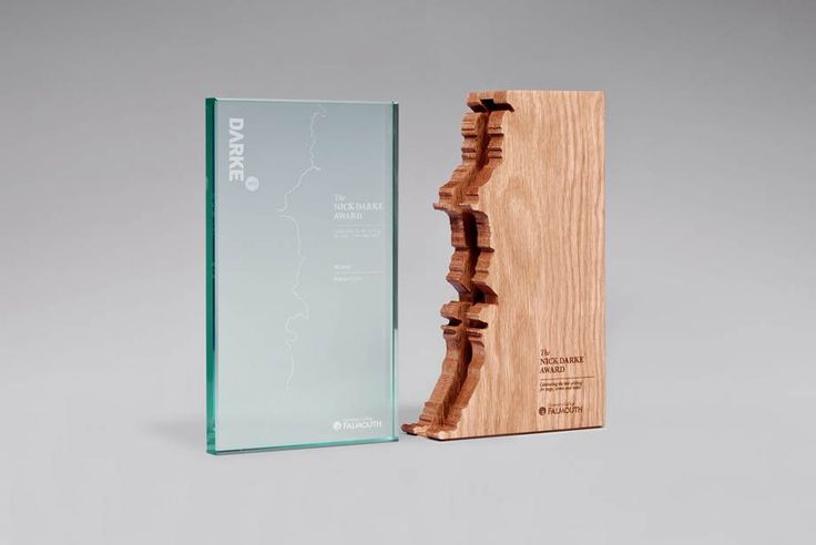 The Nick Darke Award trophy, designed by TwoDesign, created by Falmouth University's Design Centre