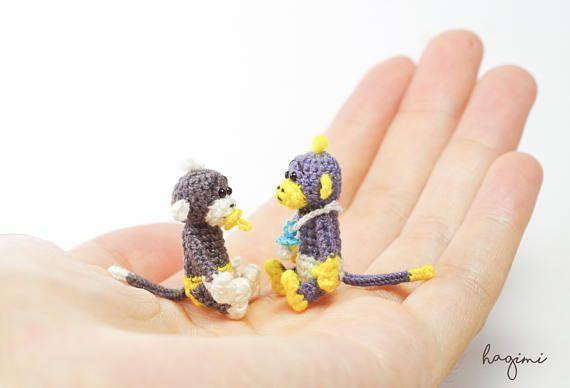 Tiny Monkey Miniature Monkey Tiny crochet monkey amigurumi