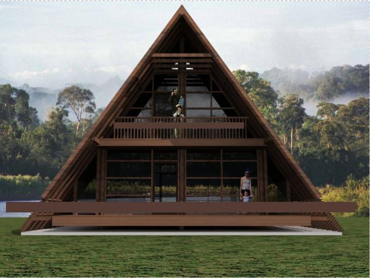 Best 25 triangle house ideas on pinterest bamboo house for Wood house plan
