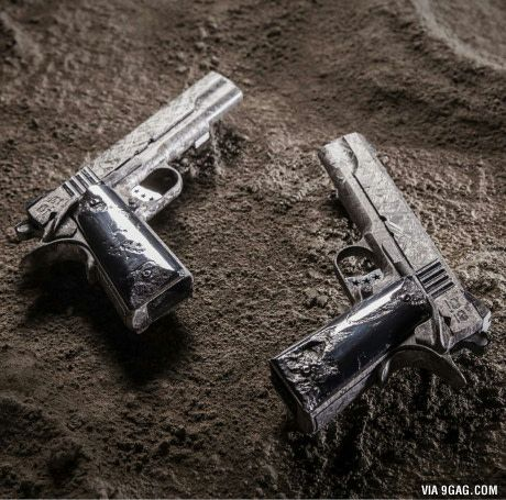 Cabot 1911 pistols made completely of meteorite price? 1.5 million each