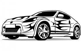 Resultado de imagen de dibujos de coches tuneados para colorear