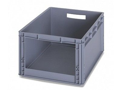 56 Litre Medium Open Fronted Stacking Picking Container - Stackable Euro Storage Box
