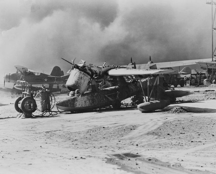 OS2U wrecked at Pearl Harbor 1941 - Vought OS2U Kingfisher — Wikipédia