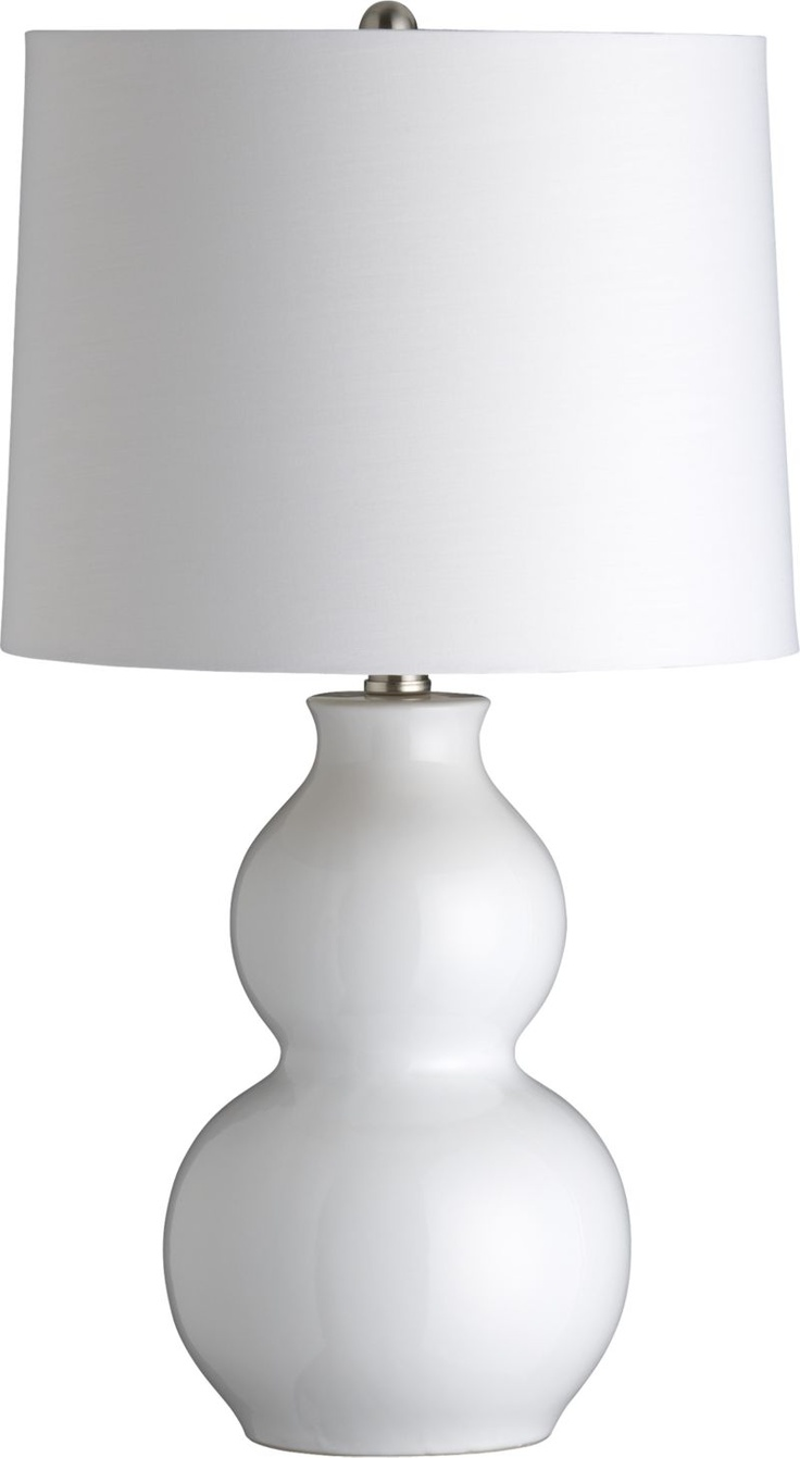 Zing White Table Lamp in Lighting | Crate and Barrel