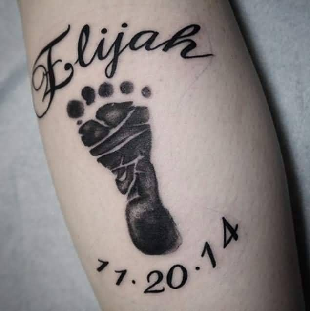 Best 25+ Baby Footprint Tattoo Ideas On Pinterest