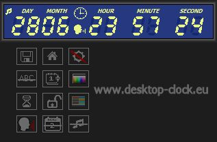 Digital Voice Clock and Digital Countdown Ticker is a simple Windows application that allows both to count down the time from the set date as well as to monitor the current date and time. Countdown Picker window can be freely placed on the desktop. Unlocked version allows you to change the background color and set any color of digits, also allows you to save your current settings