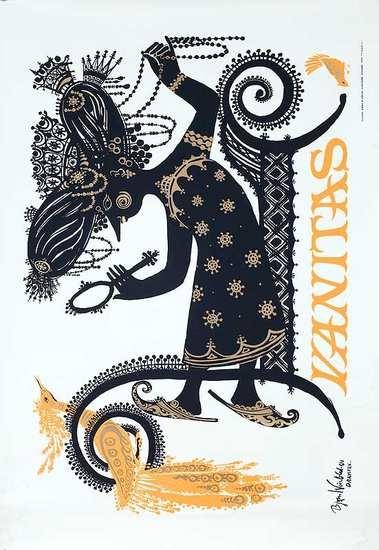 Bjorn Wiinblad Danish Opera Poster