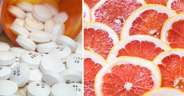 Hoge bloeddruk/Cholesterolmedicatie: Als je deze medicijnen slikt kan je beter geen grapefruits eten of grapefruitsap drinken.S...