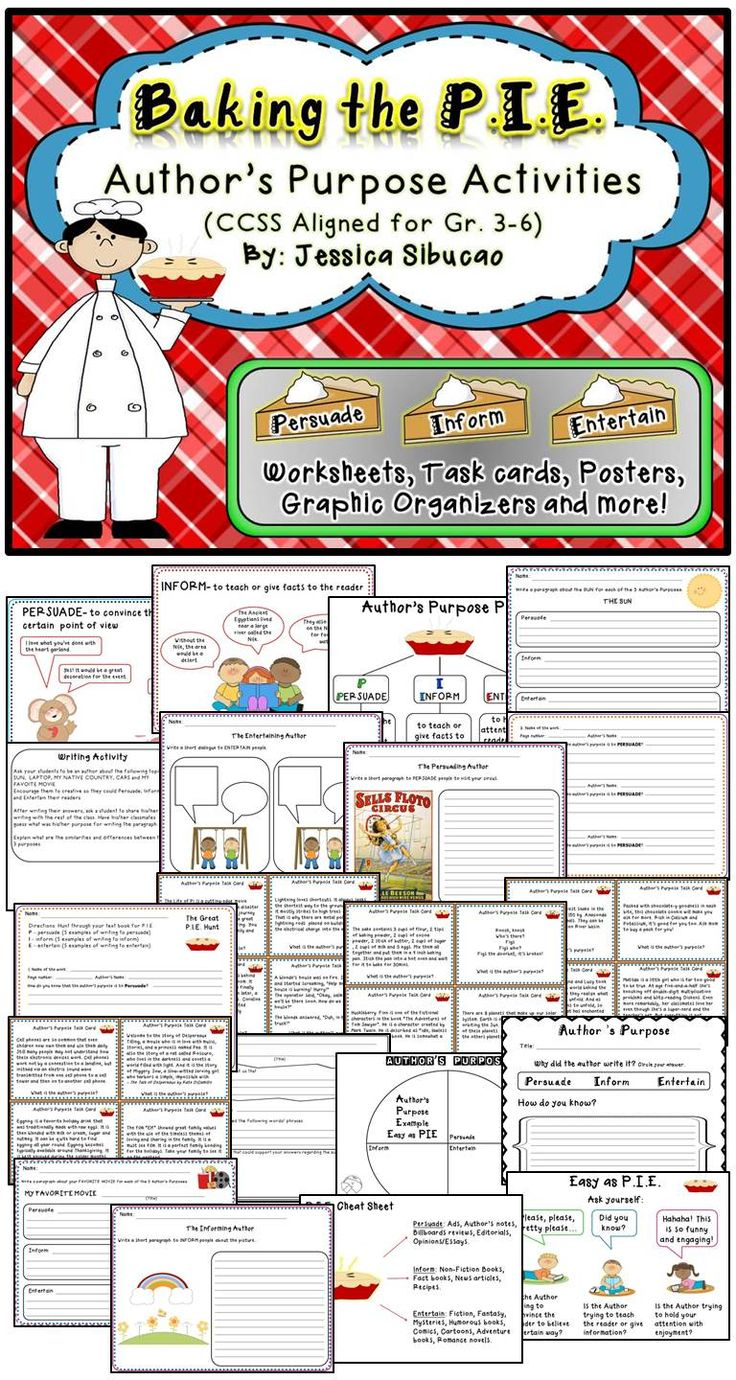 154 Best Author 39 S Purpose Images On Pinterest Worksheets