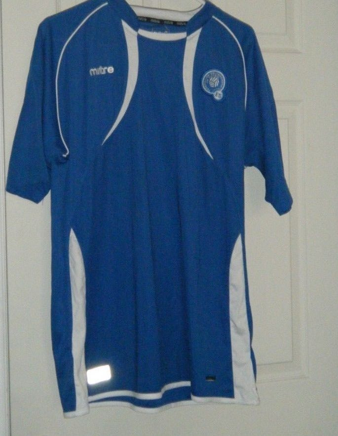 e520d5b86 El Salvador Soccer Jersey MITRE XL Blue National Football Soccer Team Used # Mitre #ElSalvador