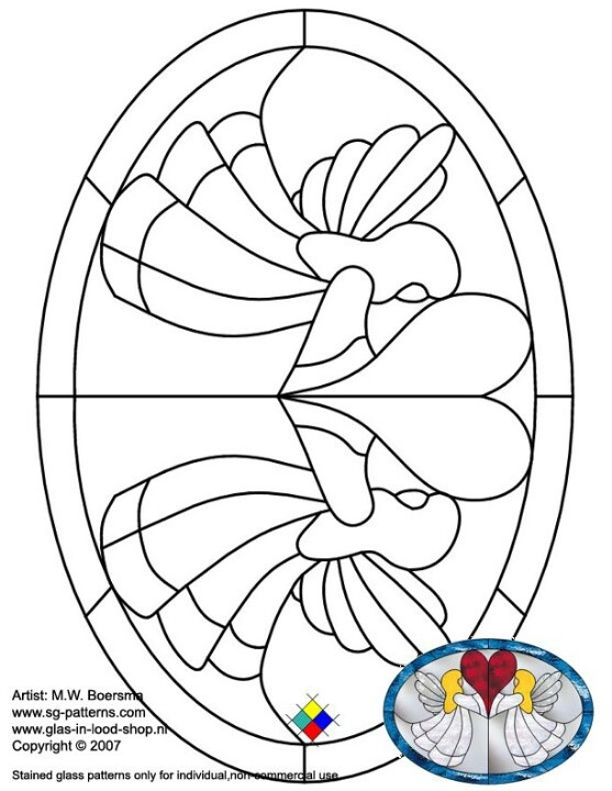 valentines stained glass coloring pages - photo#14