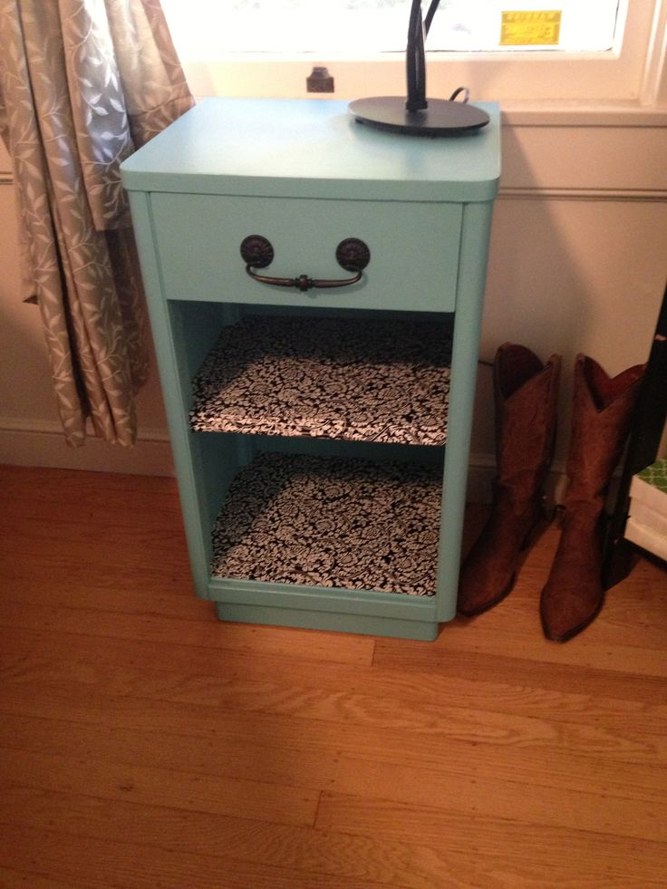 Refinished nightstand.