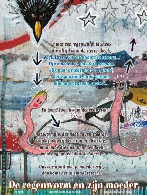 Aan de muur - Poëzieposters - poëzieposter De regenworm en zijn moeder Annie M.G. Schmidt