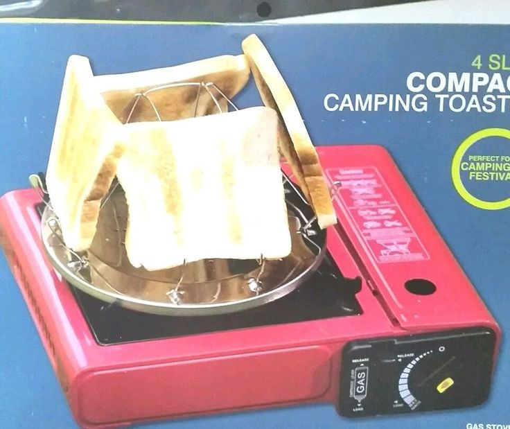 1X Outdoor Compact Folding Camping Toaster Fishing For Gas Hob Stove Toast