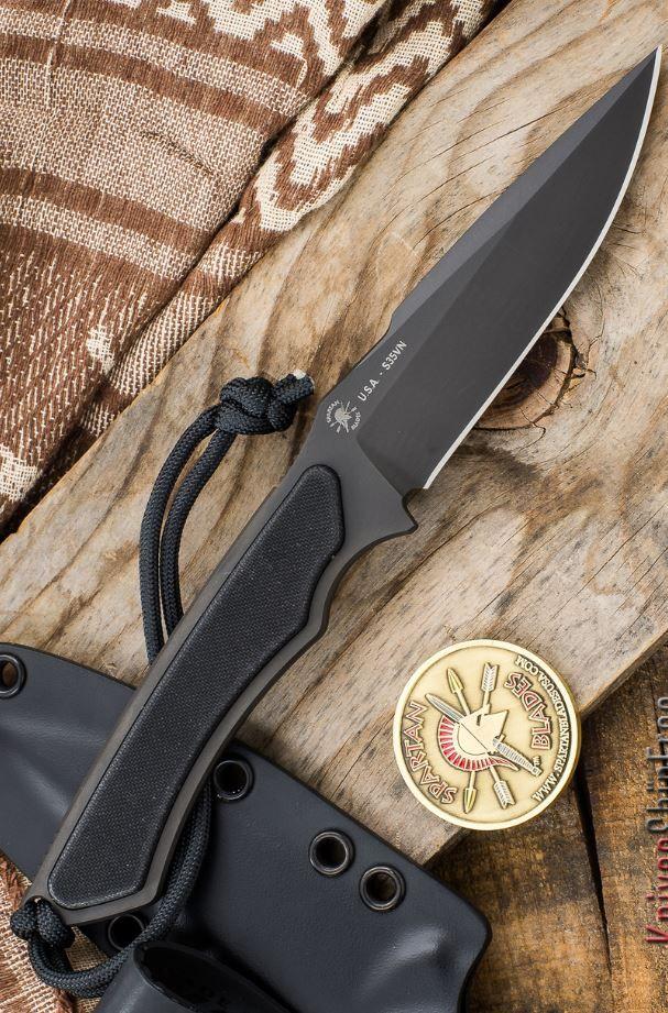 Spartan Blades Phrike EDC Fixed Knife Blade Self Defense Fighting Knife Kydex Sheath - Everyday Carry Gear