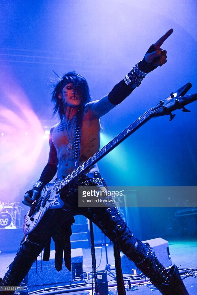 Ashley Purdey of Black Veil Brides performs on stage at Brixton Academy on March 30, 2012 in London, United Kingdom.