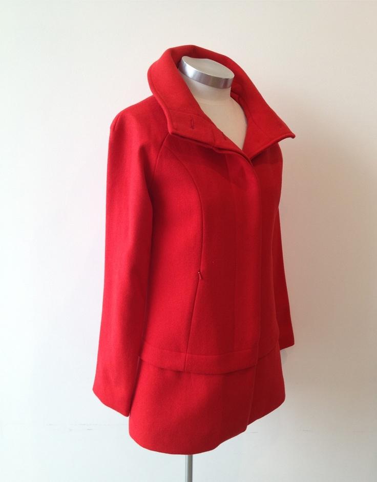 Raglan Habit Jacket - cute red coat from Andrea Moore