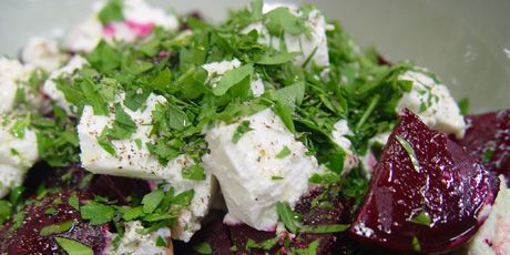Roasted Beet and Goat Cheese salad...courtesy of Canadian Chef Michael Smith! The BEST...